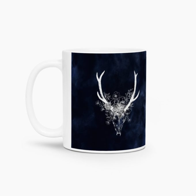 mug design scandinave crane buffle watercolor navy