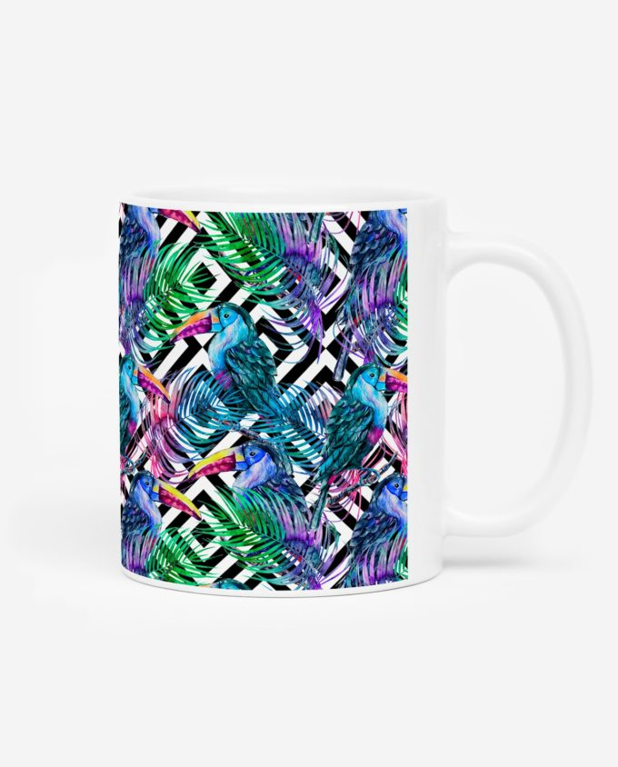 mug toucan palmier tropical